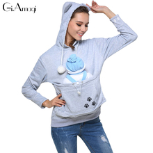 Moleton Kawaii Cat толстовки с капюшоном с обниматься мешок собака Pet толстовки для Повседневные пуловеры с ушками Девочки Гилмор