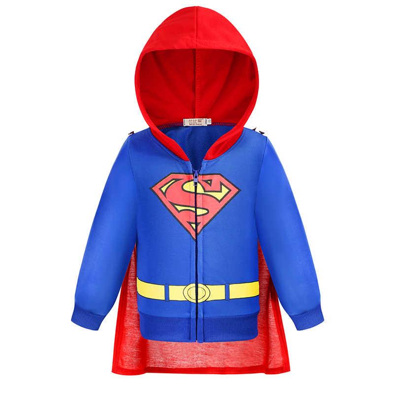 새 아기 소년 슈퍼맨 배트맨 영웅 유니온 스포츠 후드 자켓 코트 어린이 키즈 스웨터 후드 티 얇은 겉옷