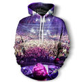 Hip Hop Men Printed Hoodies Crazy Music Dj Concert Graphic Male Sweatshirt Homme Long Sleeve Shirt Cool Hooded Pullover Clothing