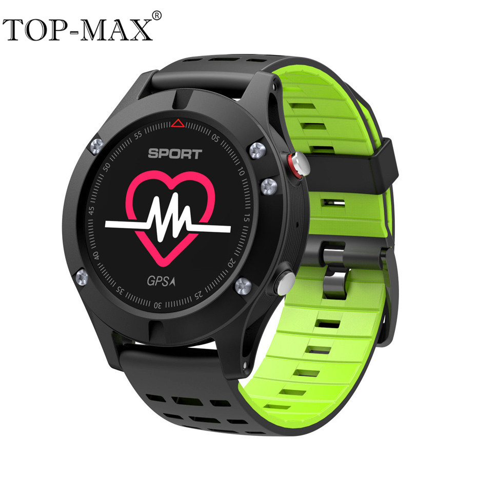 TOP-MAX IP67 Waterproof Bluetooth 4.2 F5 Smart Watch Heart Rate Monitor GPS Multi-Sport Mode Altimeter Barometer Thermometer корпус mini itx cooler master elite 120 без бп чёрный rc 120a kkn1