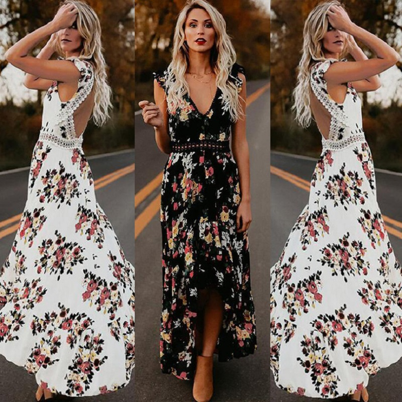 11a2461a28f61 Worldwide delivery floral maxi dress v neck in NaBaRa Online