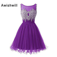 Real Picture Sparking Beading Homecoming Dress 2018 Beadings Tulle A Line Vestido De Formatura Curto Short Graduation Dresses