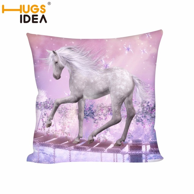 Incredible Us 37 99 Hugsidea Unique Unicorn Printed Square Cushion For Chairs Pillow Home Sofa Living Room Car Back Cushion Magic Unicorn Bolster In Cushion Gmtry Best Dining Table And Chair Ideas Images Gmtryco