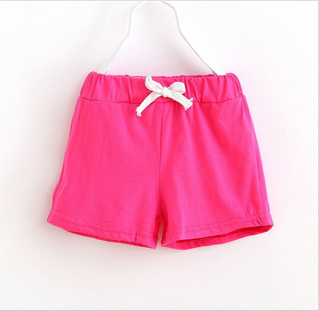 27b190caeb US $1.22 35% OFF 2018 boy girl summer short cotton Soft comfortable toddler  Solid color baby pants children clothing kids clothes 2 7 year-in Shorts ...