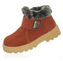 2016 новая зимняя детская натуральная кожа сапоги мальчика и девочки зимняя обувь, дети кроссовки бренда ребенок лодыжки обувь мартин загрузки