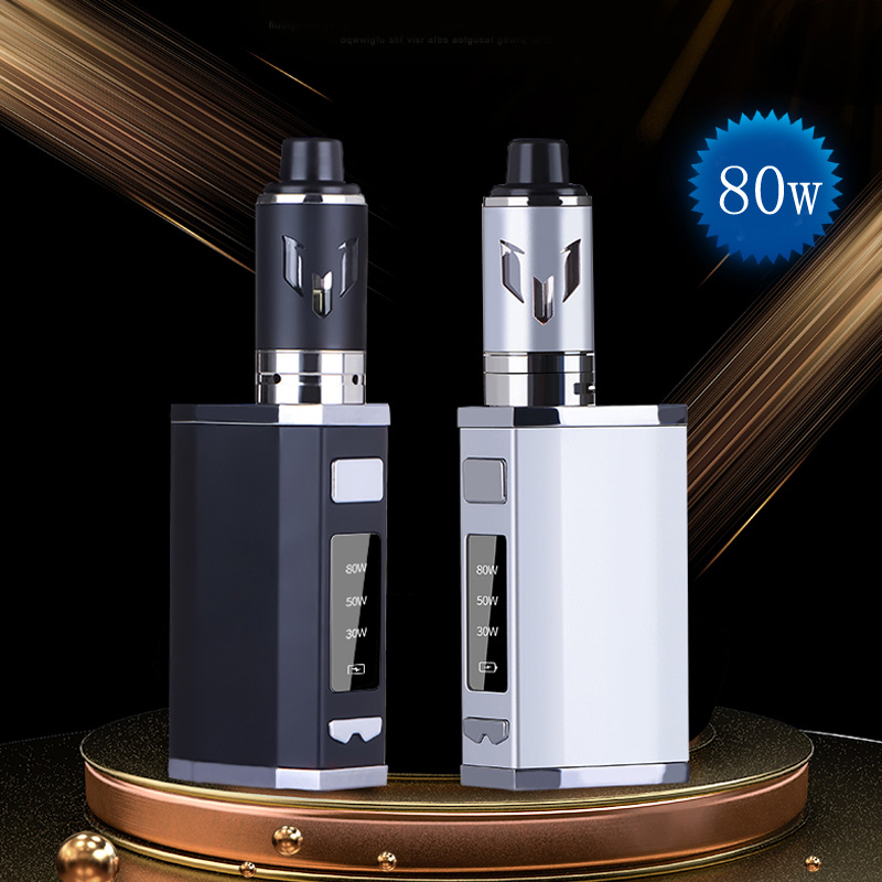 Original JK 80W box mod kit 2500mah Build-in Battery with 3.0ml 0.5ohm Vaper Tank vaporizer <font><b>30</b></font>-80W Huge Vapor <font><b>vape</b></font> pen kit image