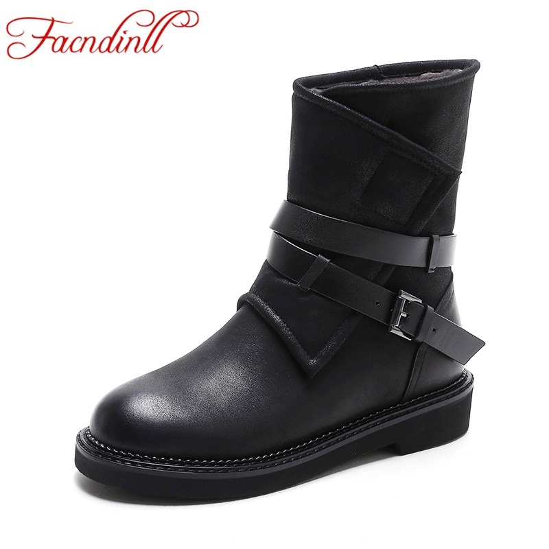 FACNDINLL handmade leather ankle boots vintage platform casual shoes booties soft cowhide women's shoes ankle boot zapatos mujer handmade real leather vintage platform