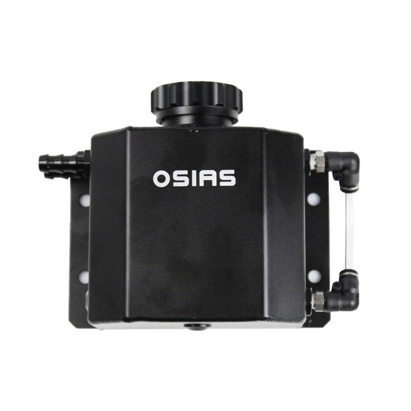 OSIAS 1L/1000 ml bouchon d'huile en Aluminium réservoir réservoir avec bouchon de vidange noir