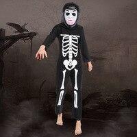 2017 New Children Halloween Kids Skull Skeleton Costume Cosplay Skull Skeleton Performance Clothing Halloween Supplies Hot