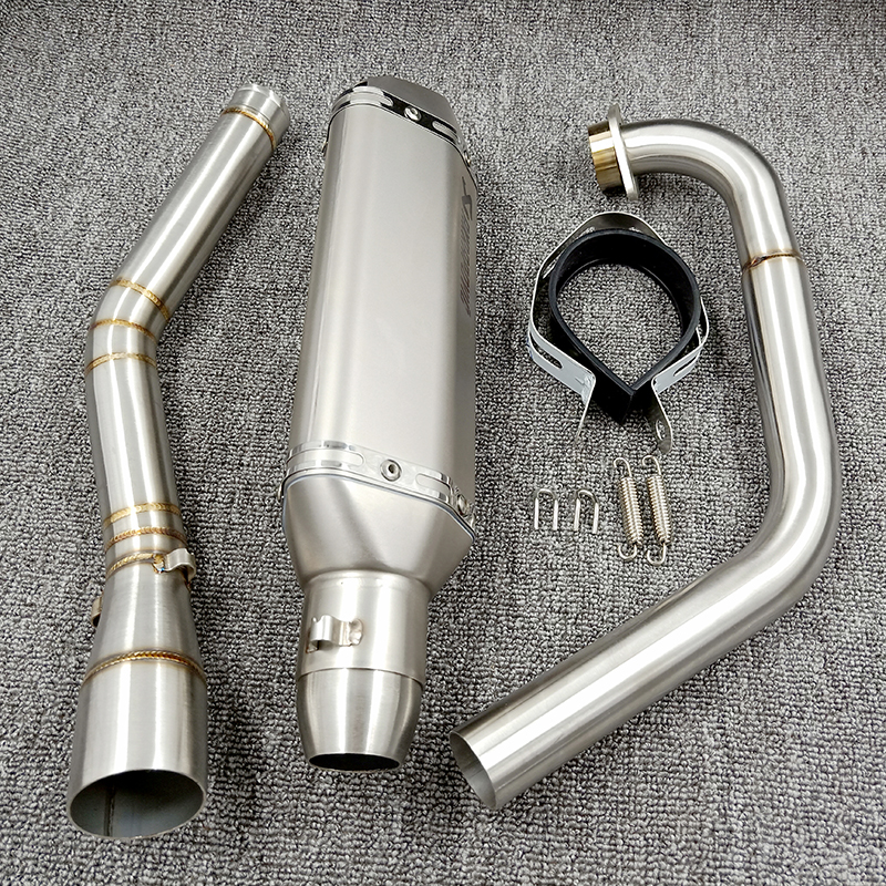 YZF R15 MT15 Full Set Modify Exhaust Muffler Middle Link Pipe Stainless Steel For YZF R15 MT-15 2008-2017 MT 125 (1)