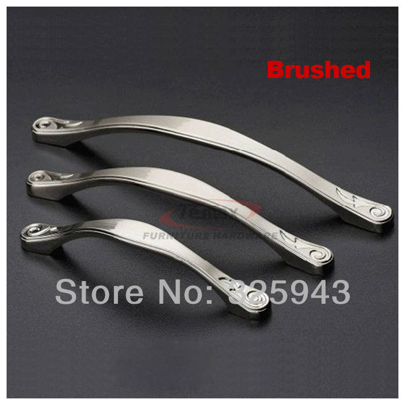 2pcs 128mm Brushed Silver Zinc Alloy Furniture Handle Kitchen