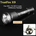 Trustfire X9 Cree XM-L T6 LED 5 Mode 1200 lumens LED Flashlight Tactical WaterProof LED Torch(1x18650 battery)