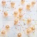 20LED Marroquino Romântico Lindo Brilhante Metal Dourado Bola Luz Cordas Xmas Party Wedding Banquet Decoração