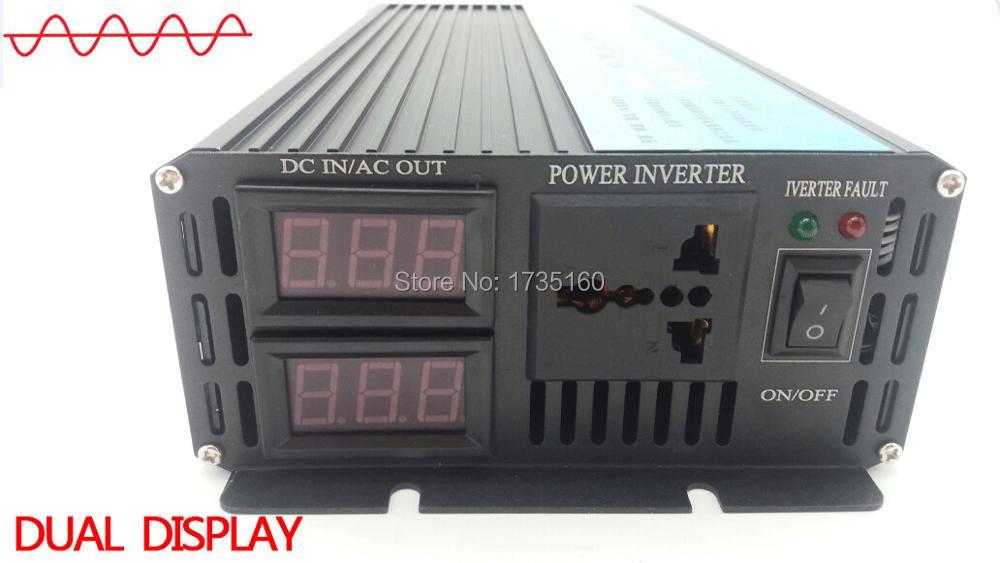 цена на DHL FedEx UPS free shipping 2000W/2KW Pure Sine Wave Power Inverter (4KW peak power) DC12V/DC24V/DC48V to AC220V