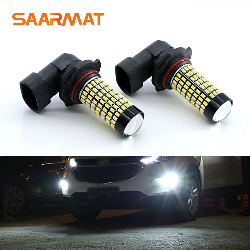 2PCS White 158-smd 9006 HB4 LED Bulbs For Fog Light DRL For <font><b>BMW</b></font> <font><b>E60</b></font> E63 E64 M3 (E46) 2002-2005 <font><b>BMW</b></font> 5 Series (<font><b>E60</b></font>) <font><b>2003</b></font>- image