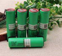 100% original 18650 bateria 2500 mah bateria inr1865025r 3.6 v descarga 20a energia da bateria dedicada para sony + diy níquel