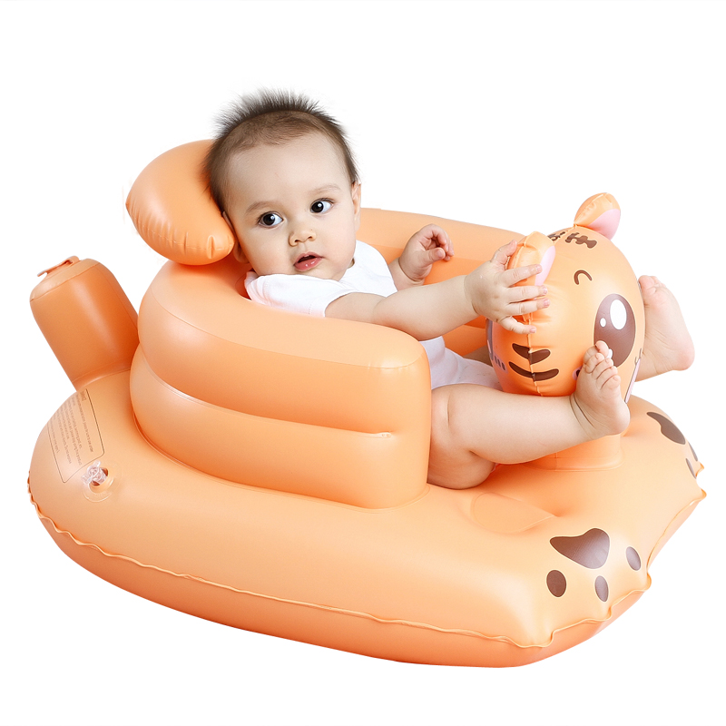 Inflatable Seat Sofa: Children's Inflatable Small Sofa Baby Audio Learning Seat