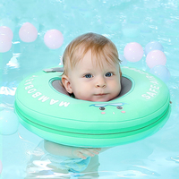 Free inflatable collar Baby Neck Swimming Ring Neck Float No need pump air Swim Circle Pool accessories Bathing toys