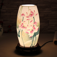 Modern Antique Chinese Style Bedside Eggshell Porcelain Ceramic Lamp Decoration Table Lamps