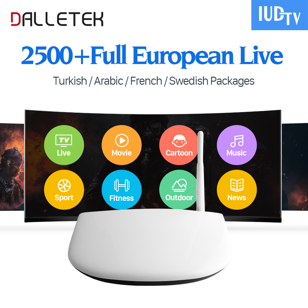 Dalletektv Q1304 Iptv Europe Box Android 6.0 Quad Core with Iptv Subscription IUDTV Spain Italy Germany UK Greece Sweden IPTV dalletektv mag250 linux iptv set top box europe iptv subscription arabic french uk italy usa germany sweden streaming box