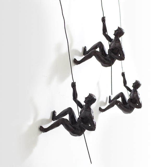 Fun Climber people Resin Statue Wall Decorations Creative ...