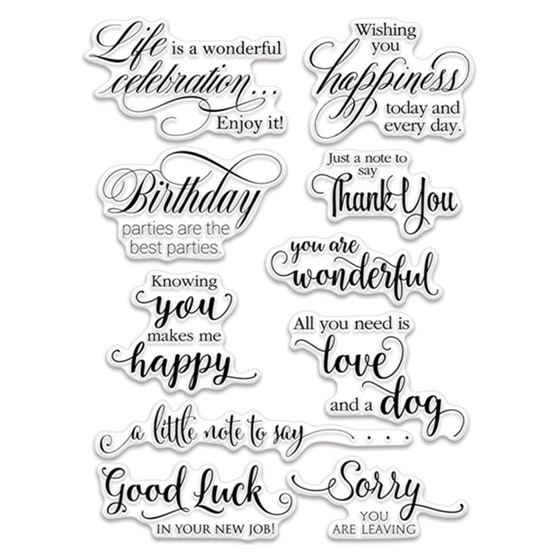Thacopha Make a Wish Transparent Clear Silicone Stamp//Seal for DIY Scrapbooking//Photo Album Decorative Card Making