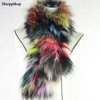 2017 New Women Genuine knitted Fox Fur scarf Real Fur collar Winter Warm Neck Warmers silver fox colorful mixed color scarf