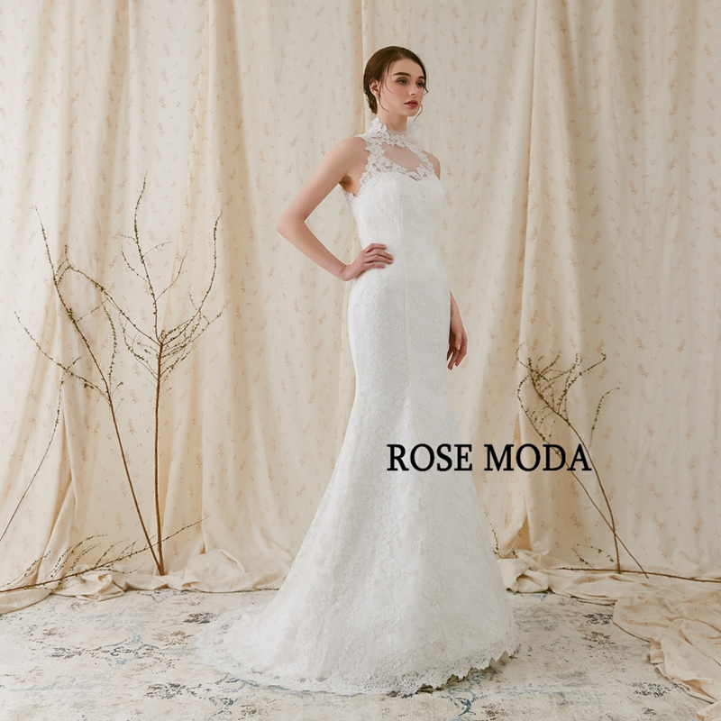 Rose Moda High Quality Alencon Lace Mermaid Wedding Dress 2018 ...