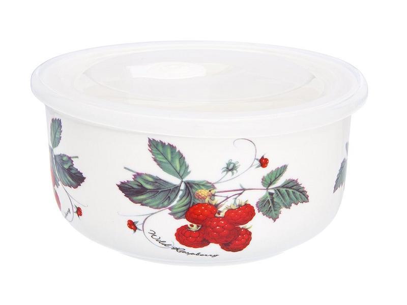 Салатник Elan gallery, Ягода-малина, 13,5*6,5 см, с крышкой чайный набор elan gallery ягода малина 4 предмета
