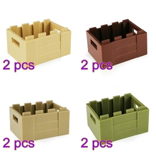 4 Color Military Theme Small Particle Building Block Weapon Box Model Toy Without Pattern For 100% Building Block Brands цены