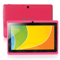 Yuntab Q88 Android 4.4 Tablet PC Allwinner A33 Quad Core 512MB/ 8GB Dual Camera, External 3G ,3D-Game Supported (Pink)