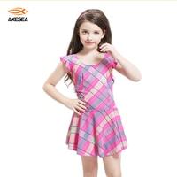 Axesea 1 Sztuka Kolorowe Cute Baby Kraty Paski Strój Kąpielowy Bikini Spódnica Strój Dla dziewczyny Mini Piękny słodkie Bikini Na Plaży nosić