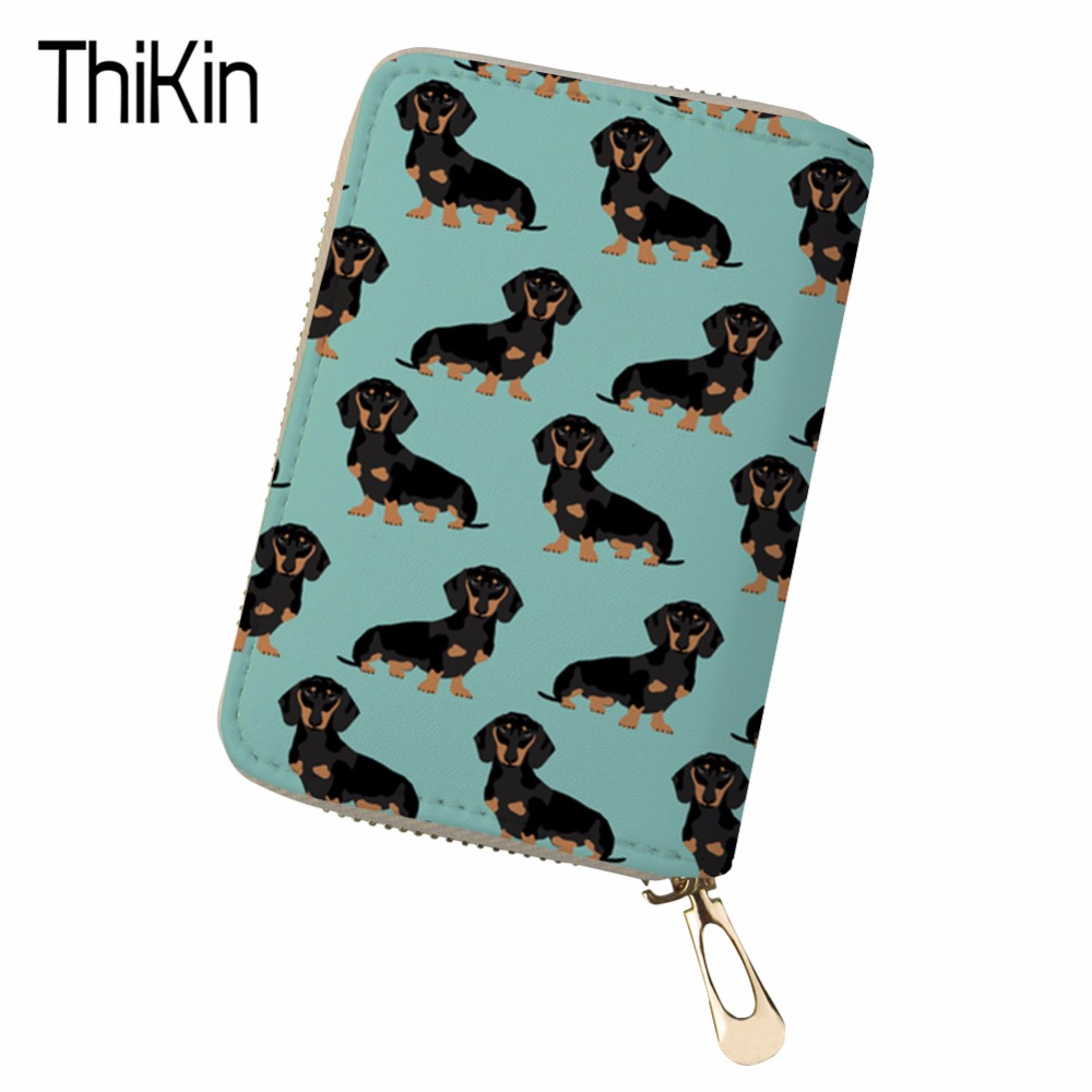 Thikin Large Capacity Travel Passport Cover Women Cute Corgi Printing Clutch Credit Card Holder Passport Wallet Purse Money Bag Card & Id Holders Coin Purses & Holders