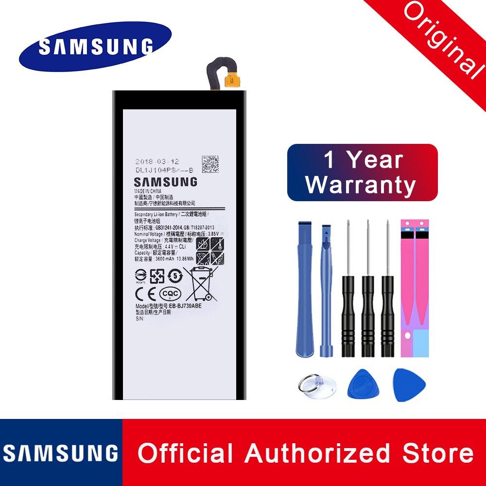100% Original Replacement Battery EB-BJ730ABE For Samsung Galaxy J7 Pro 2017 J730 SM-J730F J730FM 3600mAh Phone Batteria + Tools