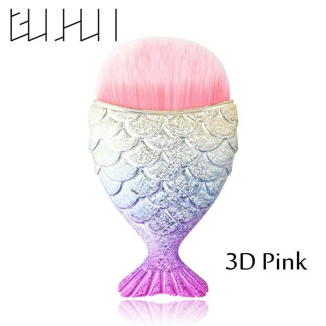1PC Fashion Mermaid Fishtail Bottom Powder Foundation Concealer Face Blush Powder Concealer Makeup Brushes Cosmetic Tools Makeup Brushes