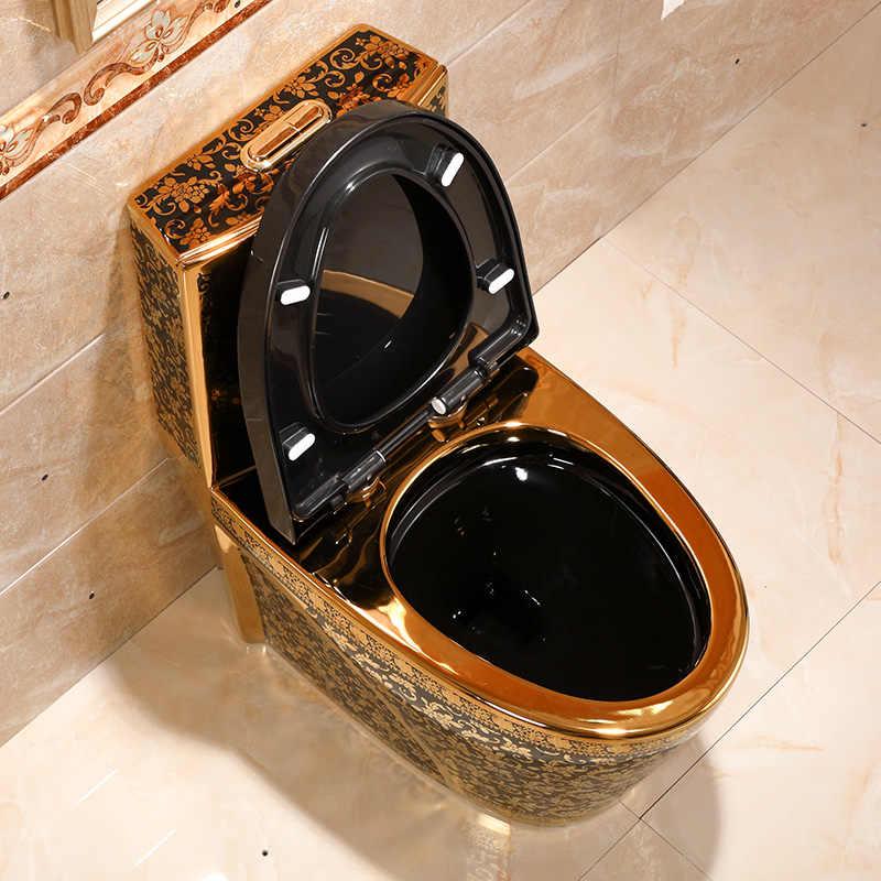 Creative Personalities Golden Toilets Siphons Odor Proof