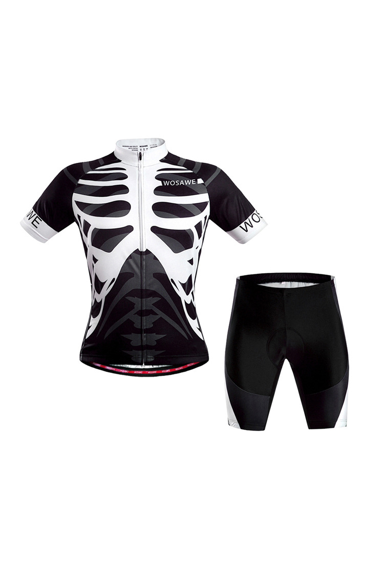 Good Deal WOSAWE Mens Breathable Cycling Jersey 3D Padded Shorts Set Outfit(L)