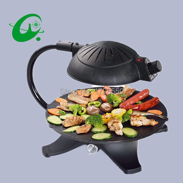 3D smoke-free electric Grill electric Infrared grills non-stick Bakeware tools roast meat machines for domestic use bbq grill neje multifunctional portable bbq bakeware grill steam cleaner brush gray