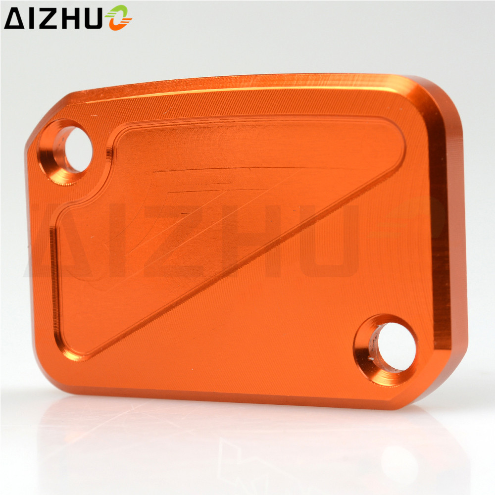 For KTM DUKE 125 200 390 Motorcycle Front Cylinder Fluid Reservoir Cover Cap Motorbike Motor CNC Aluminum Accessories Orange