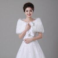 Free Shipping Cheap New Ivory Faux Fur Wedding Wrap Bridal Cape Bridal Wrap Shrug Stole Cape