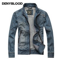 Denyblood Jeans 2017 Autum New Fashion Mens Denim Jacket Outwear Vintage Washed Classic Casual Slim Coats