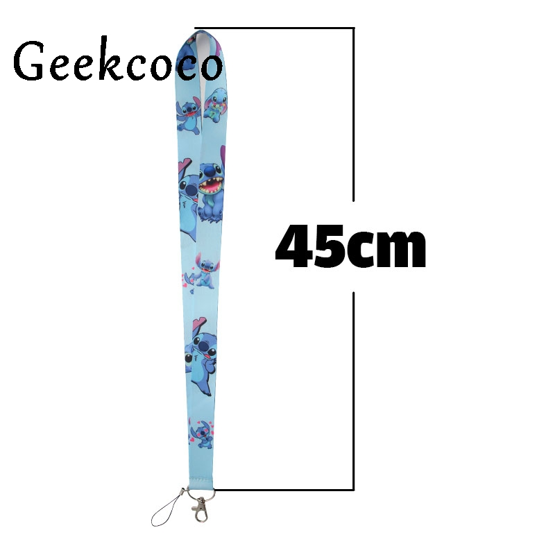 Stitch Cartoon kids keychain Accessories Safety Breakaway Mobile Phone USB ID Badge Holder Keys Straps Neck lanyard Camera J0259 in Key Chains from Jewelry Accessories
