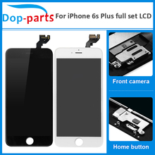 100Pcs Wholesale Full Set For iPhone 6s plus LCD Display Touch Screen Home button+Front camera Digitizer Assembly Replacement