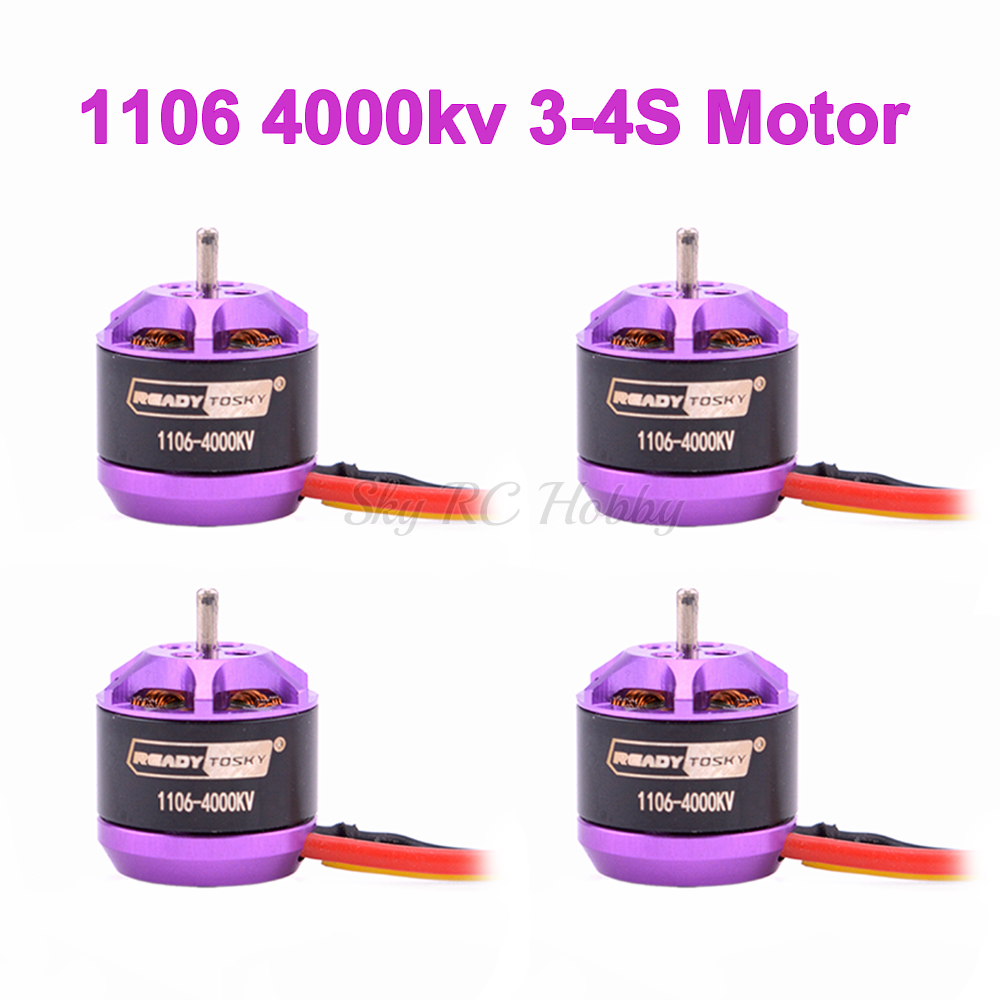 1106 4000KV 3-4S Mini Brushless Motor For 60mm 70mm 80mm 90mm 100mm FPV RC Racing Drone Multicopter DIY Spare Part