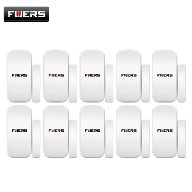 FUERS 433MHZ 10pcs Lot Intelligent Wireless Door Gap Window Magnetic Sensor Detector for WIFI GSM 3G