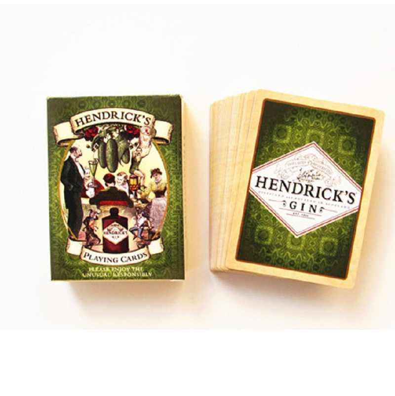 56 шт. бумажный Набор Игральных Карт HENDRICK'S GIN Poker Card deck развлечения Новинка коллекция для розлива вина игра Pokers подарок