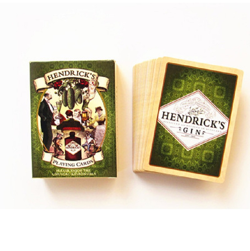 56pcs Paper Playing Cards set HENDRICK'S GIN Poker Card deck Entertainment novelty collection Wine Drinking Game Pokers present(China)