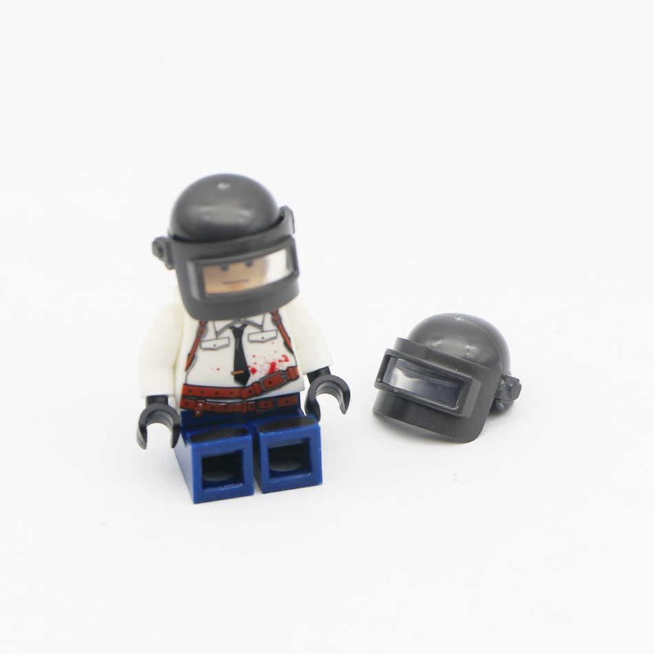 Военная Униформа оружие PUBG интимные аксессуары пистолет строительные Конструкторы шлем парашют Ghillie костюм SWAT Солдат Кирпич игрушка совме