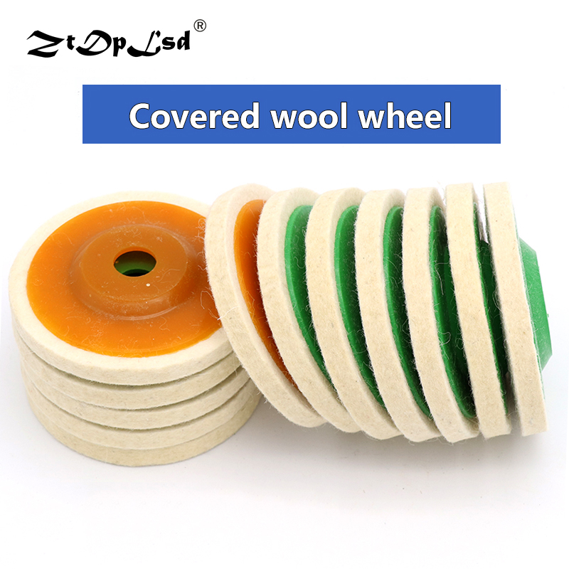4 Inch 100mm Wool Round Polishing Pads Buffing Angle Grinder Wheel Felt Disc Pad Set Buffer Tools For Grinding Wheels Polisher