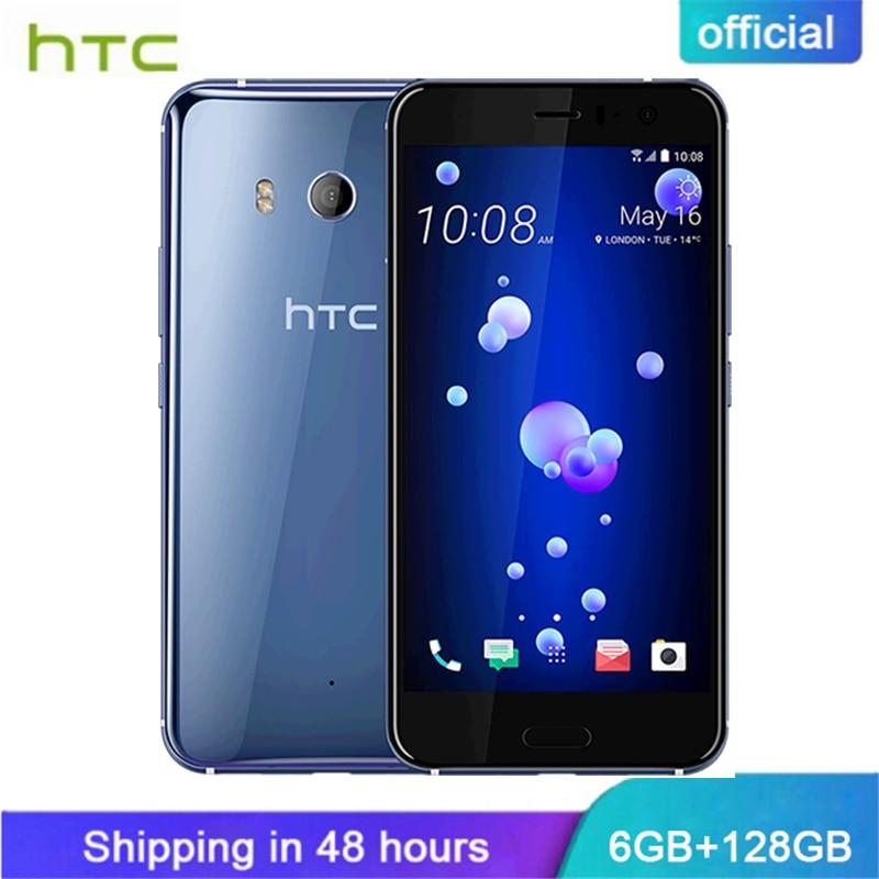 Officiel D'origine HTC U11 6 gb RAM 128 gb ROM 4g LTE Octa Core Snapdragon 835 IP67 Étanche 5.5 ''double Caméra Intelligente Téléphone Portable